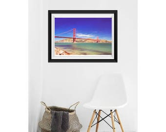 Golden Gate Bridge | San Francisco | California | Color Photography | Beach | Bay | Bay Area | Ocean | Blue Sky | San Fran