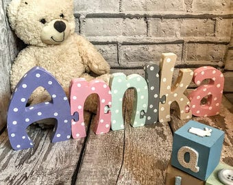 Laser cut wood name Jigsaw name Laser cut wood word Custom cut word Wood baby name sign Nursery name signs Baby name signs Laser cut word