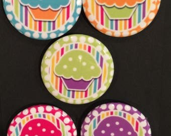"""1.25"""" Button Magnets - Muffins"""