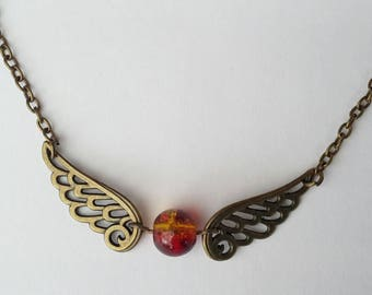 Inspired by Harry Potter bright gold necklace