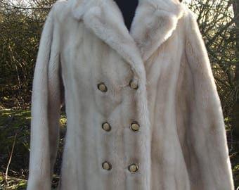 Vintage Faux Fur - Vintage Faux Fur Coat  - Vintage Coat - Vintage Clothing - Vintage Clothes - 60s Clothes - Winter Coat - Coat - Tissavel