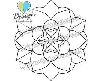 Simple Mandala Coloring Page #2, Printable Adult Coloring Page, Digital Download, Relaxation, Meditation, Peace