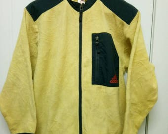 Rare Vintage ADIDAS Fleece Jacket Full Zipped