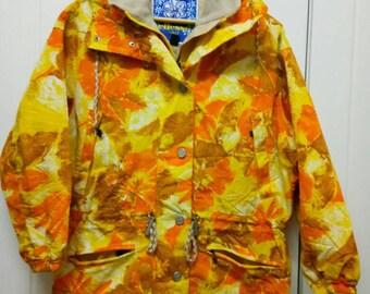 Rare Vintage ELLESSE FLORAL Jacket Full Printed Size M Medium