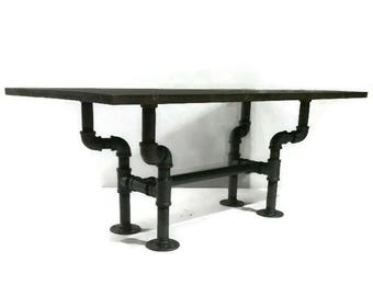 Rustic Industrial Pipe Coffee Table, STEAMPUNK Style Furniture, Pipe  Furniture