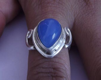 Chalcedony ring,Chalcedony Silver Ring,Silver Chalcedony Ring,92.5%  sterling Silver Ring, Sterling Silver Ring, size 3-12(USA Standard)