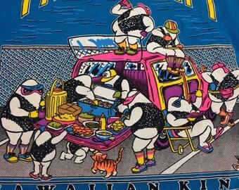 Vintage 90s Hawaii Tailgate Party Girls Hot Chicks summer beach pool hawaii kine retro tee t-shirt size Medium