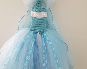 Elsa inspired tulle costume
