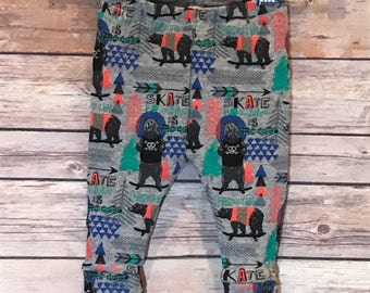 winter bear leggings, Christmas leggings, holiday leggings, baby leggings, toddler leggings, winter leggings, baby boy outfit