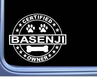 "Certified Basenji L319 Dog Sticker 6"" decal"