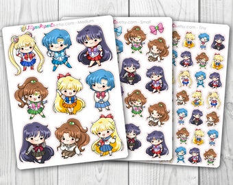 Sailor Moon Inner Scouts Stickers
