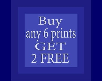 Promotion Gift Special Offer - Buy 6 Get 2 FREE Wall Art Home Decor Bathroom Kitchen Dining Living Room Bedroom Pictures Set of 6 Art Prints