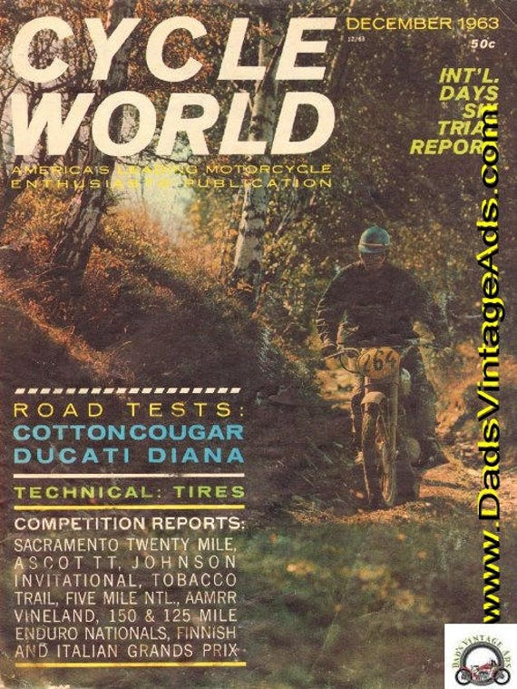 1963 December Cycle World Motorcycle Magazine Back-Issue #6312cw