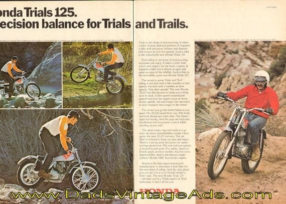 1973 Honda Trials 125 (TL-125) - Precision balance for trials & trails 2-PG Ad #e73fa11