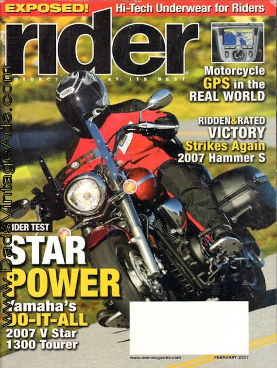 2007 February Rider Motorcycle Magazine Back-Issue #0702rdr