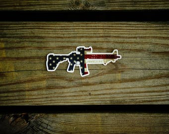 Battle Worn Freedom Rifle sticker