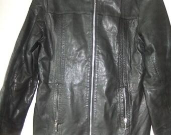 1990s black leather jacket sz 12 (generous)