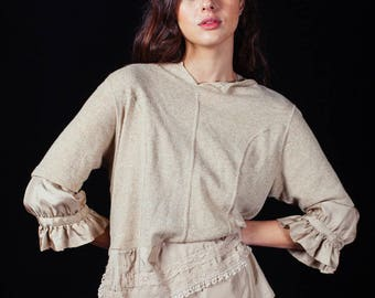 Junya Watanbe Comme Des Garcons Silk and cashmere blouse