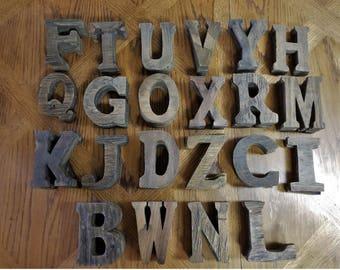 Wood Letters Unpainted Wall Decor Craft Wedding Art