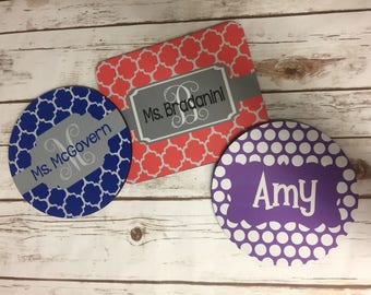 Personalized Mousepad- Custom Mouse Pad- Monogrammed Mouse Pad - Monogrammed Mousepad - Teacher Gift - Coworker Gift