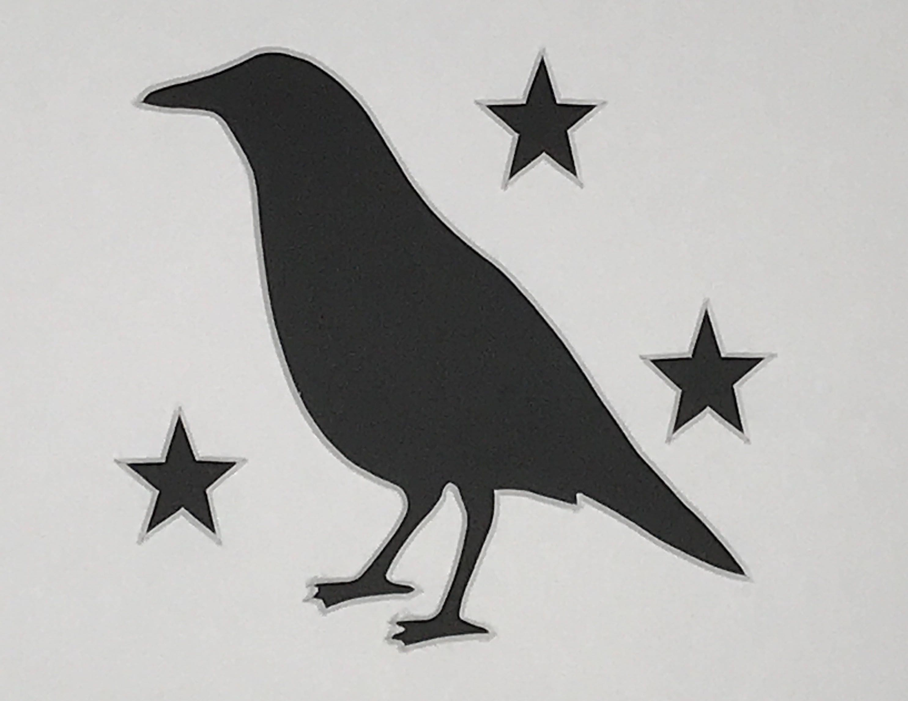 Pack Of 3 Primitive Crow With Stars Stencils Made From 4