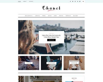 Chanel - A Responsive WordPress Blog Theme - Feminine Wordpress Theme - Blog Template - Fashion Template - Wordpress Blog Theme - WordPress