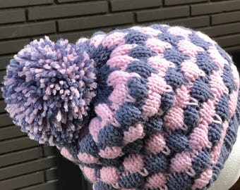 Bubble Beanie with Pom Pom