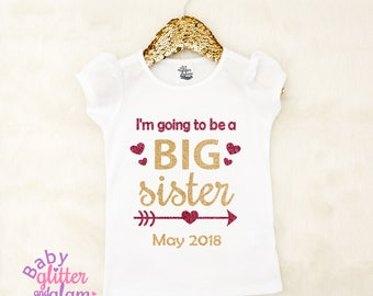 Going to Be a Big Sister Shirt, Big Sister to Be, Pregnancy Announcement, Big Sister Little Sister, Big Sis Little Sis, Siblings Shirt