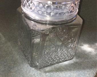 Medium glass candy jar