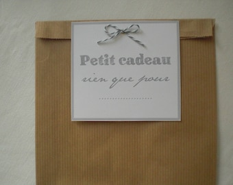 Gray kraft label gift bag