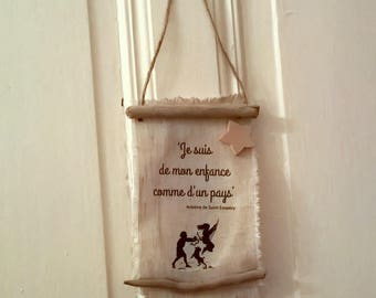 Mini frame linen and Driftwood with quote
