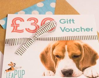 Gift Voucher for dog lovers Gift for dog owners Valentines gift Pet gift for her Pet gift for him Dog gift for mom Gift ideas for daughter