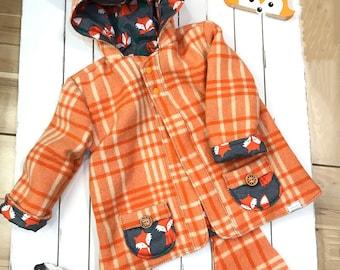 Up-Cycled Woolen Fox Coat - 8-14 years