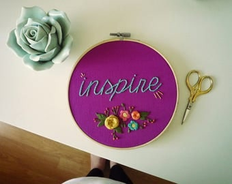 Inspire, Embroidery Art