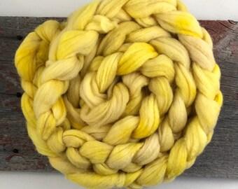Turmeric and Logwood on Fine Wool Roving