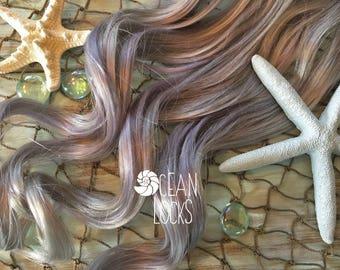 Human Hair Extensions, Clip In Hair, Pastel Hair, Blue Hair, Silver Hair,  Mermaid Hair, Ocean Locks Hair