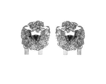 Silver Greyface Dartmoor sheep stud earrings, Greyface Dartmoor Sheep, Sheep earrings, Sheep Jewellery, Sheep Gift for her, Sheep Present