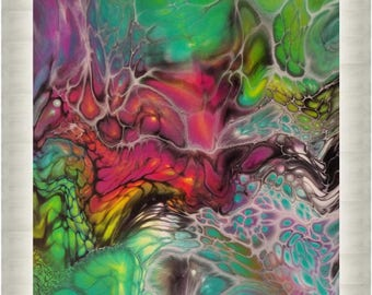 Bliss - by Maria Brookes, 593mm x 870mm Framed, Fluid Acrylic Art