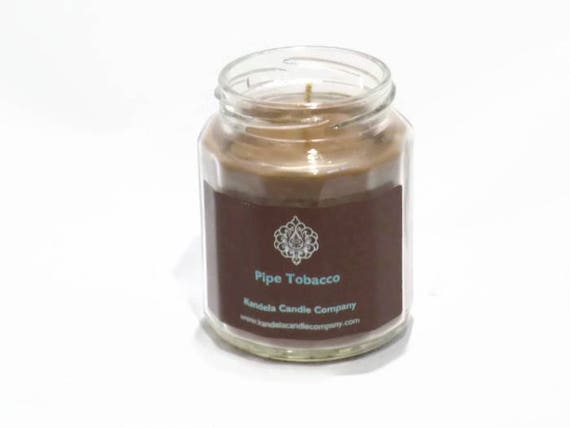 New! Pipe Tobacco Scented Candle in Twelve Sided Jar