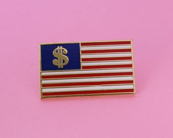 Dollars and Stripes Enamel Pin