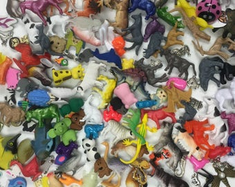 """50 Animal Trinkets (Sm <1.5"""", Lg < 3""""), for I Spy bags, Occupational Therapy, Sensory tables, Rice Boxes, Valentines favors, Teaching aids"""