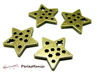 30 2Y7705 stars pendants multiple silver metal