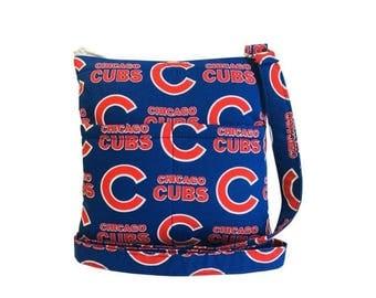 20% OFF SALE Chicago Cubs Crossbody Bag // Sling Bag // Crossbody Purse // Shoulder Bag // Hipster // MLB