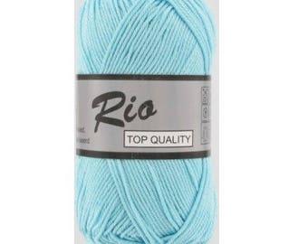 "Ball of yarn ""100%"" cotton, blue heaven"