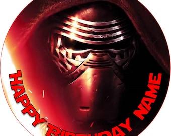 EDIBLE Kylo Ren Birthday cake Topper