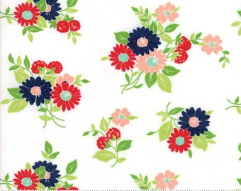"Moda ""The Good Life"" by Bonnie and Camille ~ SUMMER ~ Cream 55151 19  ~ Floral ~ Half Yard Increments"