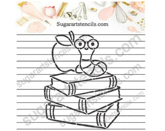 School books back to school PYO cookie Stencil NB900743