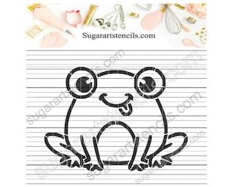 Frog PYO cookie stencil ST00502
