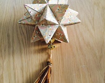 Hanging origami - spicy star Garland