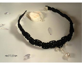15% off Limited Time Pearl Choker, Black Lace Choker, Pearl Pendant Choker, Lace Choker, Choker Necklace, Gothic Lace Choker, Victorian Chok
